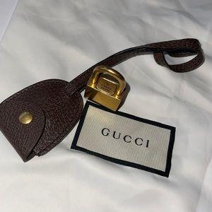 Authentic Gucci lock key & clochette set brass